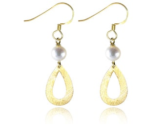Pearl Earrings, Pearl Drop Earrings, Drop Earrings, Gold Pearl Earrings, Dangle Earrings, Pearl Jewellery, Jewellery Gifts, Womens Gifts