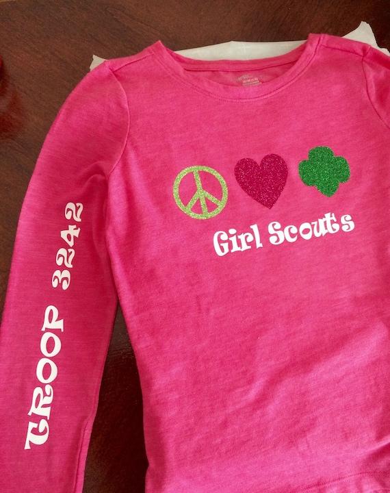 Girl scout shirt troop shirt girls shirts by for Girl scout troop shirts