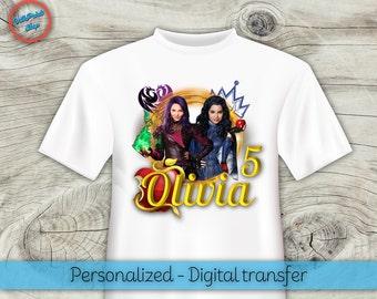 Personalized Descendants t-shirt, Descendants iron-on, Descendants digital transfer! Descendants Mal and Evie t-shirt, Mal and Evie digital