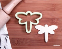Dragonfly Cookie Cutter. Flower Cookie Cutter. Baby Shower Cookies. Fondant Molds. Cookie Cutters. Insect Cookies.