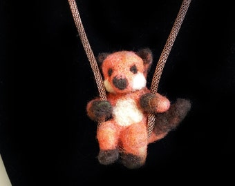 Needle Felted Necklace, Wildlife Pendant