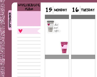 SALE - But first coffee/tea... Planner Stickers