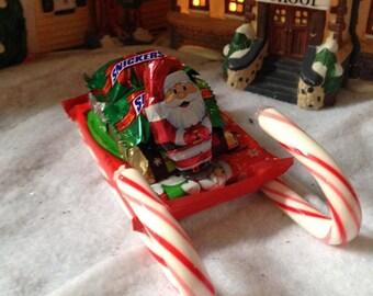 Candy Santa's sleigh centerpiece edible