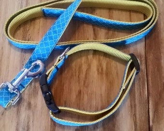 Hand Crafted Leash and Collar Set