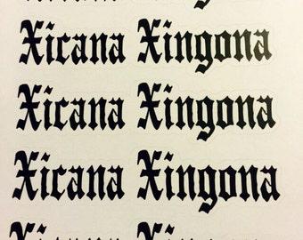 Xicana Xingona Sticker Sheet