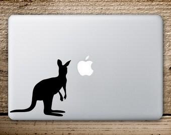 Kangaroo Vinyl Decal - Kangaroo Sticker - Macbook Stickers - Kangaroo Macbook Sticker - MacbookPro Decals - Laptop Kangaroo  - Kangaroo