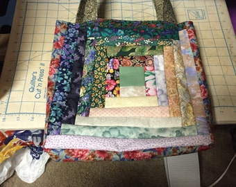 Log Cabin Lined Tote