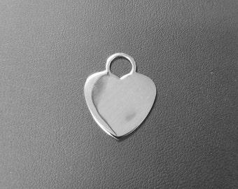 Heart Shape Sterling Silver Pendant / Charm