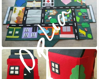 Felt Play Mat/House/Purse LASTDISCOUNT-FREE DELIVERY