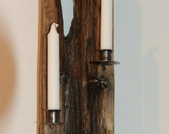 wall sconce driftwood/metal