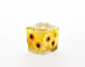 Forever Gel Candles, Sunflower gel candle, Refill the tealight holder, Keep the candle forever, Over 20 scents to choose from.