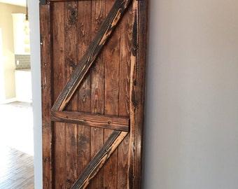 Rustic antique barn door