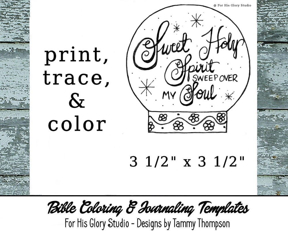 Sweet Holy Spirit Bible Journaling Coloring