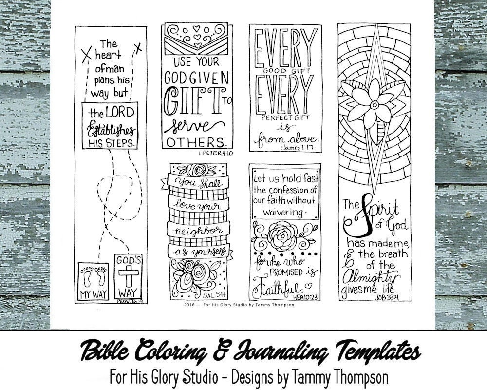 Gifts 19 Bible Journaling Black And White Pdf Sketches