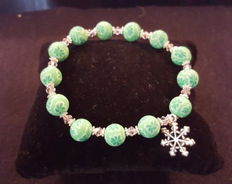 Handmade bracelet with polymer beads