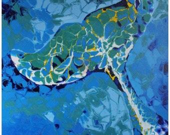Blue Earth--Painting, Oil,Acrylic,Contemporary art,modern art ,original art  by artist Ana Mu