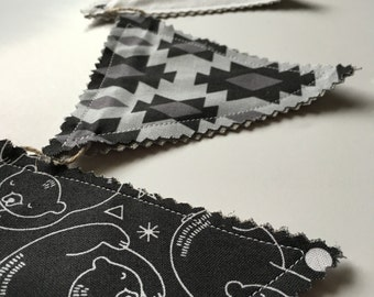 Black & White Bear Garland - Photo Prop, Room Decoration