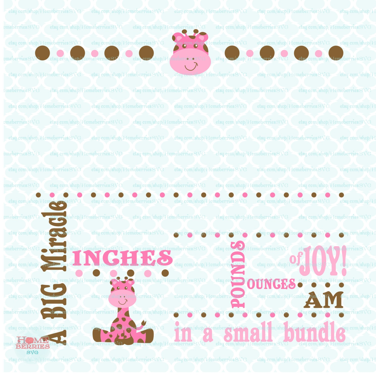 birth announcement svg baby svg template svg big miracle svg