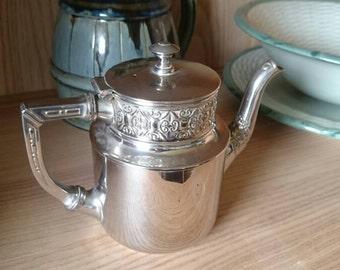 C. Kurz & Co Tiel 1710 tea pot silver Tin