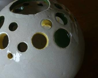 Vase, ikebana vase, hand made and painted