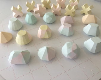 Fairy floss mini concrete gems