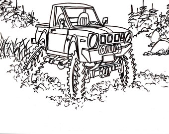 Yota Drawing Truck 4x4 RC Crawler Car Coloring