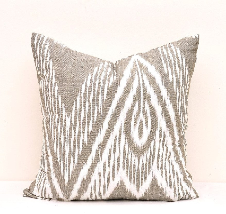 Pillow Covers Throw Pillow Cover Ikat Pillow Cover