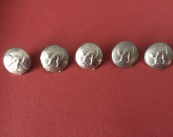 19mm 'Cat' Pewter Button (5 Pack) - Re-Enactment, Living History