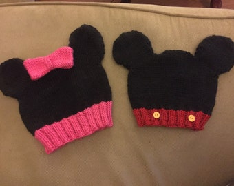 Mickey Mouse and Minnie Mouse Hat
