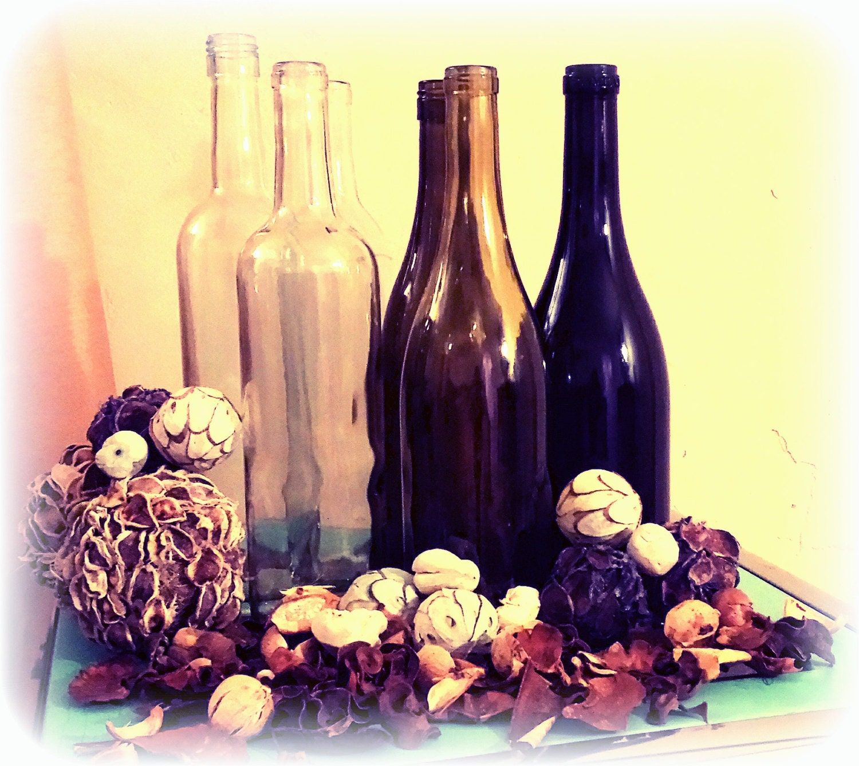 Set of 12 clean empty wine bottles for Empty wine bottles