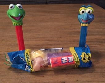 Lot of The Muppets Pez Dispensers: Kermit the Frog, Miss Piggy, Gonzo