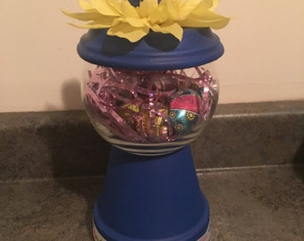 Floral Easter Gumball Machine (Boy)