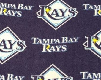 READY TO SHIP Tampa Bay Rays  Knotted Fleece Throw with Antipill Backing