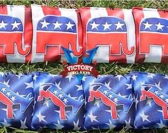 Democrat and Republican Themed Cornhole Bag Set