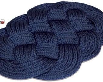 Nautical rope rug mat