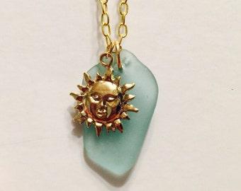 Sun Sea Glass Necklace