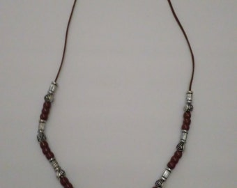 Silver and Brown Necklace