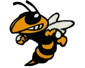 Wasp Hornet Sting Cool Embroidered Patches Jacket Iron On Jean Patches Size 3 X 2.75 Inches