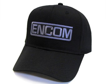 Tron Movie ENCOM Embroidered Sci fi Patch Snapback Baseball Cap Hat