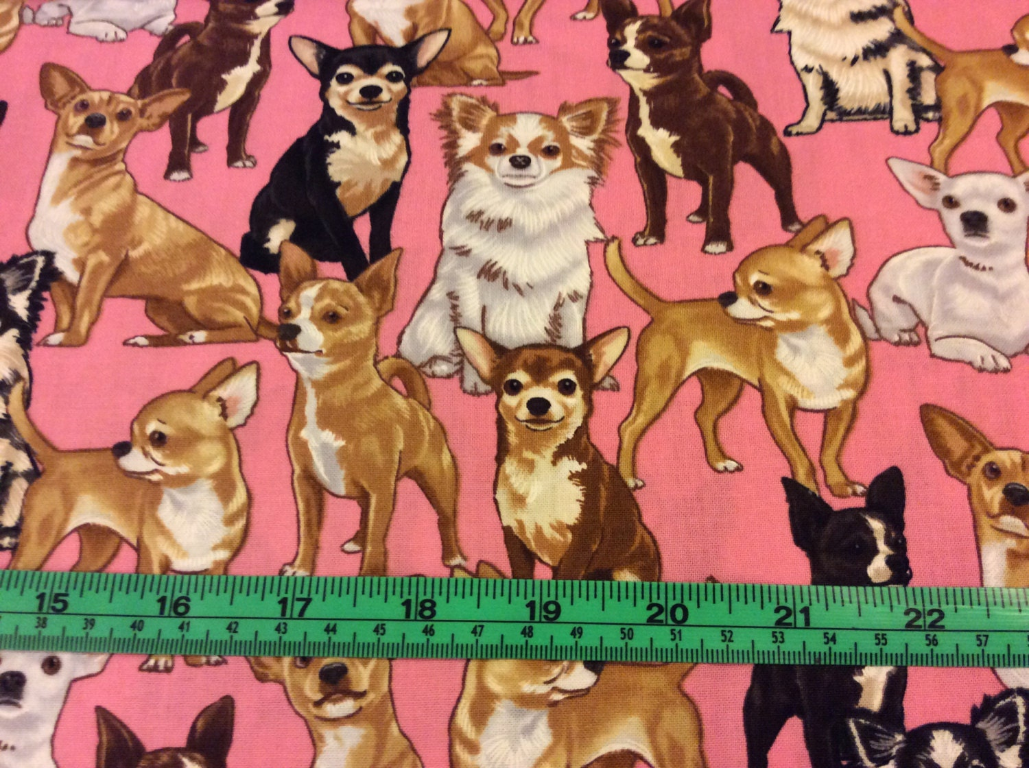 Timeless Treasure Dog Chihuahua Fabric By The Half Yard
