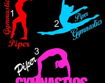 Gymnastics Custom Vinyl Decal Stickers Tumbling