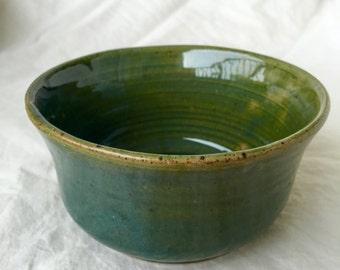 Teal ceramic bowl