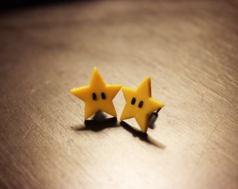 Super Mario Star Stud Earrings