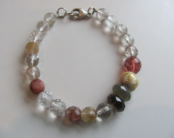 Crystal and Gemstone Bead Bracelet