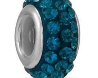 Da Vinci December Blue Topaz Crystals Bead/Charm