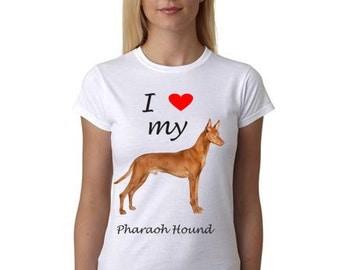 Pharaoh Hound shirt - Shirt with Pharaoh Hound Picture - I Heart my Pharaoh Hound shirt