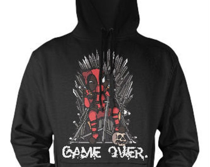 Featured listing image: Deadpool vs Game of Thrones Hoodie, marvel comics, Boy Friend Gift Idea, Girl Friend Gift, Birthday Gift Idea, Gift for Best Friend