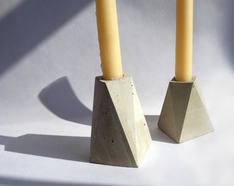 Small Tower Concrete Candlestick Holder