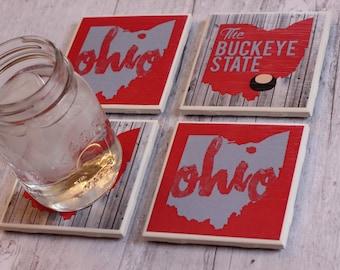Ohio State \ Ohio State Coasters \ Ohio State Buckeyes \ Coasters \ Columbus \ Ohio Coasters \ OSU Buckeyes \ OSU Coasters \ Father's Day