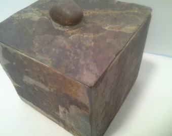 Slate stone box, heavy